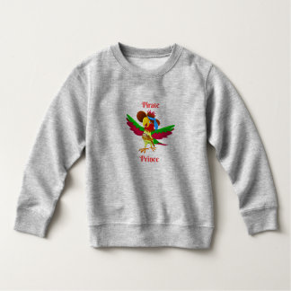 Parrot Pirate Prince Toddler Fleece Sweatshirt