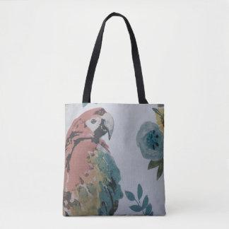 Parrot Print Canvas Designer Tote