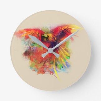 parrot round clock