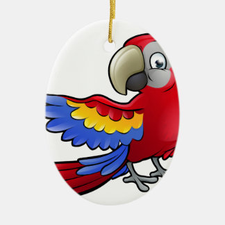 Parrot Safari Animals Cartoon Character Christmas Ornament