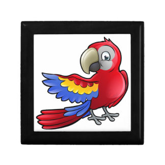 Parrot Safari Animals Cartoon Character Small Square Gift Box