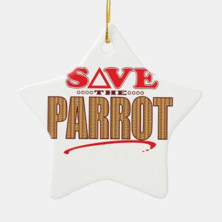 Parrot Save Ceramic Star Decoration