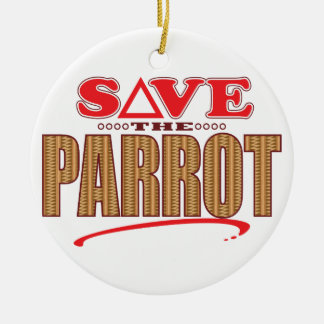 Parrot Save Christmas Ornament