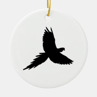 Parrot Silhouette Christmas Ornament