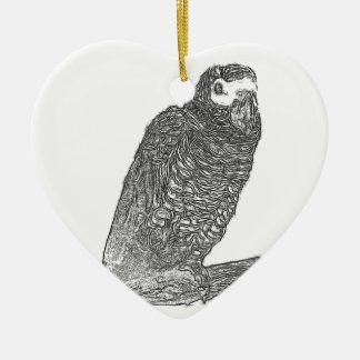 Parrot Sketch Christmas Ornament