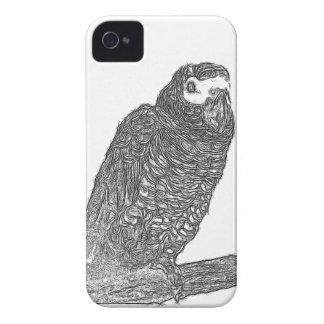 Parrot Sketch iPhone 4 Case-Mate Case
