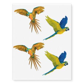Parrot Temporary Tattoos