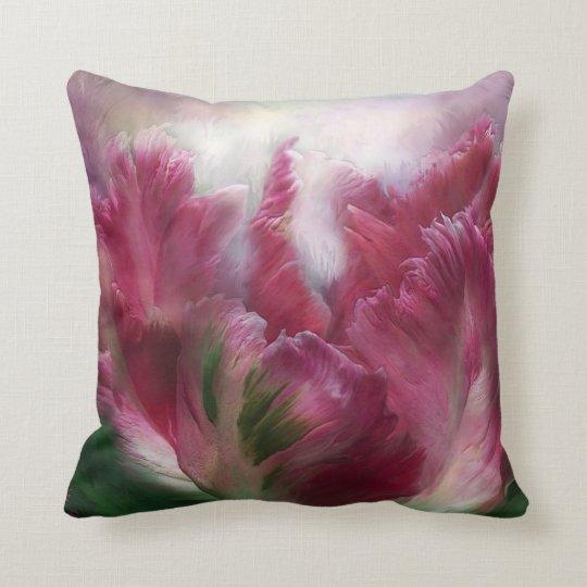 Parrot Tulip Art Designer Pillow
