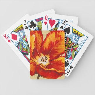 Parrot Tulip I Poker Deck