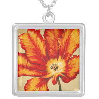Parrot Tulip II Silver Plated Necklace
