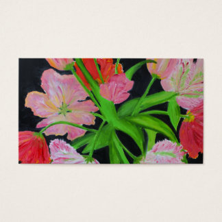 Parrot Tulips Business Card