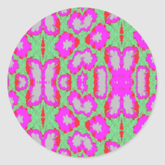 parrot tulips classic round sticker