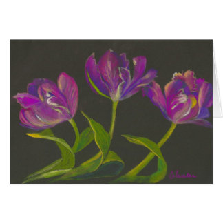parrot tulips dance card