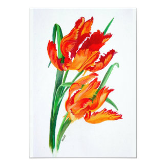 "Parrot Tulips 5"" X 7"" Invitation Card"