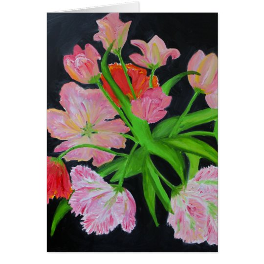 Parrot Tulips Note Card