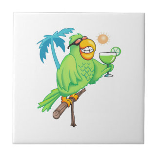 PARROT WITH MARGARITA TILE