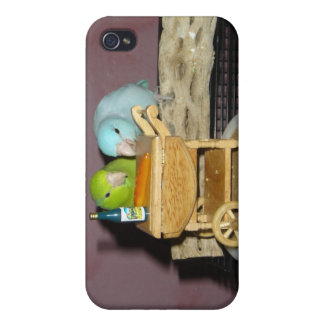 Parrotlets Tea for Two iPhone 4/4S Case