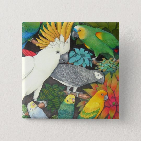 Parrots and Bromeliads Pin