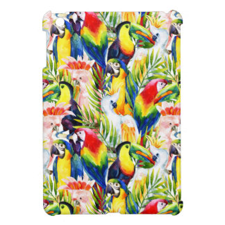 Parrots And Palm Leaves iPad Mini Cover