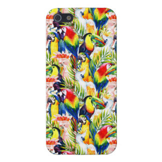 Parrots And Palm Leaves iPhone 5 Covers