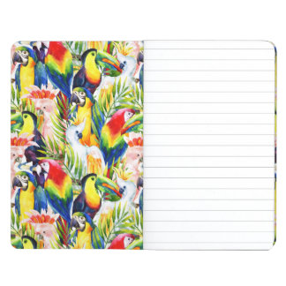 Parrots And Palm Leaves Journal