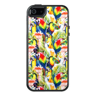 Parrots And Palm Leaves OtterBox iPhone 5/5s/SE Case