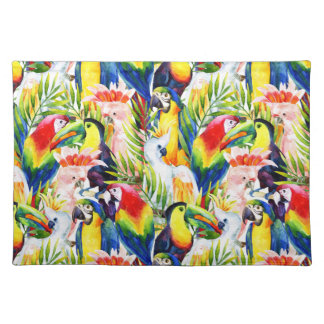 Parrots And Palm Leaves Placemat
