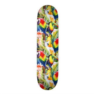 Parrots And Palm Leaves Skate Board Deck