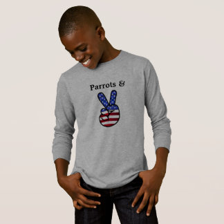 Parrots and Peace Sign Long Sleeve T-Shirt