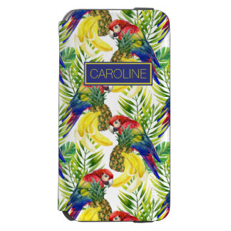 Parrots And Tropical Fruit | Add Your Name Incipio Watson™ iPhone 6 Wallet Case