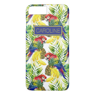 Parrots And Tropical Fruit | Add Your Name iPhone 8 Plus/7 Plus Case