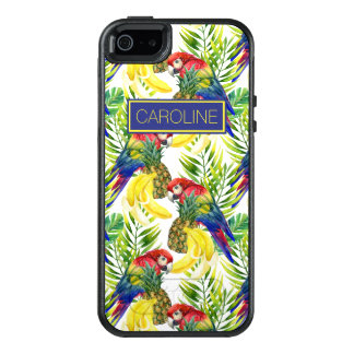 Parrots And Tropical Fruit | Add Your Name OtterBox iPhone 5/5s/SE Case