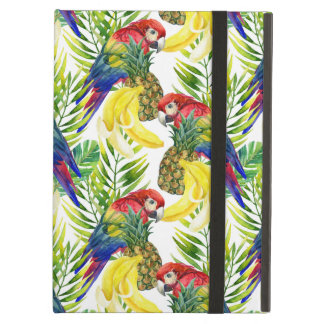 Parrots And Tropical Fruit iPad Air Cases