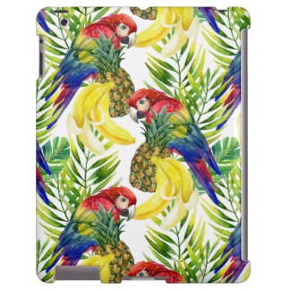 Parrots And Tropical Fruit iPad Case