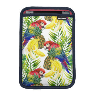 Parrots And Tropical Fruit iPad Mini Sleeve