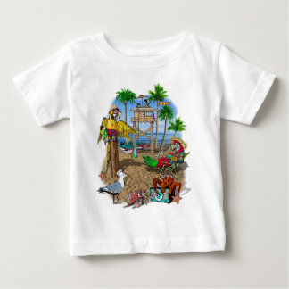 Parrots Beach Party Baby T-Shirt