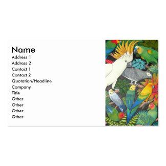 Parrots & Bromeliads Profile Card Business Card Templates