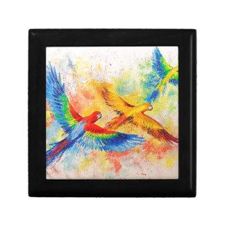 Parrots in flight gift box