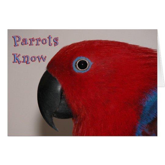 Parrots Know Card