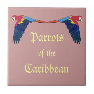 Parrots of the Caribbean Tile