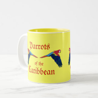 Parrots of the Caribbean Yellow Two-Tone Coffee Mug