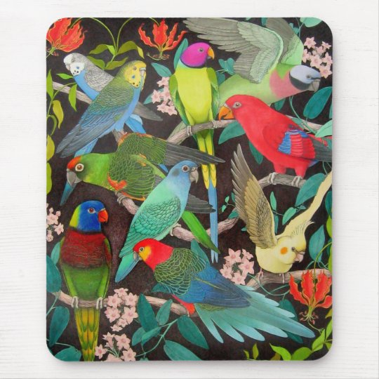 Parrots of the World II Mouse Mat