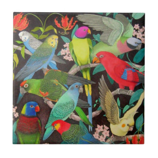 Parrots of the World II Tile