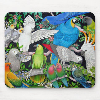 Parrots of the World Mouse Mat