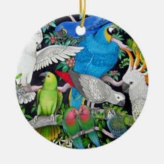 Parrots of the World Ornament