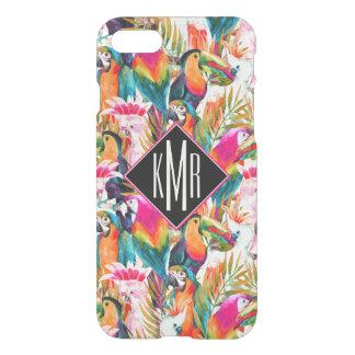 Parrots & Palm Leaves | Monogram iPhone 8/7 Case