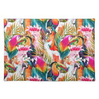 Parrots & Palm Leaves Placemat