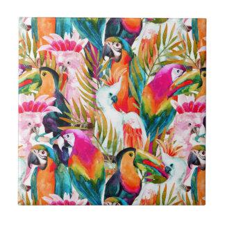 Parrots & Palm Leaves Tile