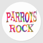 Parrots Rock Round Sticker