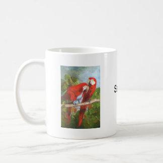 Parrots Sharing Secrets Coffee Mug